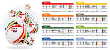 South Africa 2010 Match Schedule Royalty Free Stock Photography