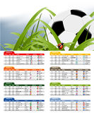 South Africa 2010 Match Schedule. And official ball Stock Photo