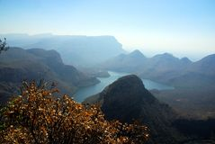 South Africa. Beautiful mountain view over the River Blyde Canyon South Africa Royalty Free Stock Photography