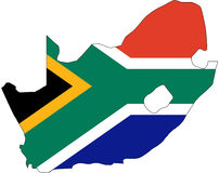 South Africa. N territory filled with the national flag Stock Photo