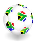 South Africa ball. World Cup South Africa ball Royalty Free Stock Image