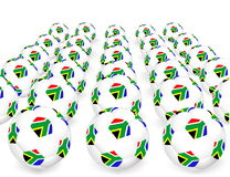 South Africa balls. World Cup South Africa balls vector illustration