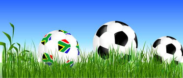 South Africa balls. World Cup South Africa balls stock illustration