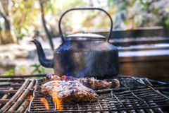 South africa barbecue skewer ribs Stock Photography
