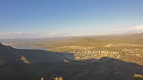 South Africa Camdeboo. Adventure in the African mountain of Camdeboo National Park and the Valley of Desolation in the summer, Western Cape province of South stock footage