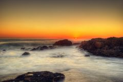 South Africa Capetown Beach Sunset. Taken in 2013 taken in HDR Royalty Free Stock Images