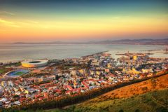 South Africa Capetown Skyline. Taken in 2013 taken in HDR Stock Photography