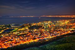 South Africa Capetown Skyline. Taken in 2013 taken in HDR Stock Photo