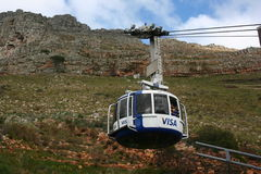 South Africa capetown, table mountain cable car Royalty Free Stock Photos