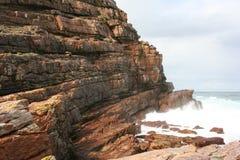 South Africa capetown, table mountain seashore Stock Photos