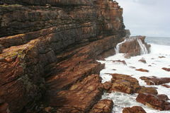 South Africa capetown, table mountain seashore Royalty Free Stock Photography