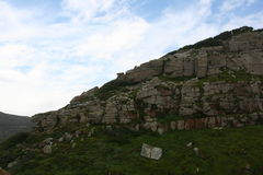 South Africa capetown, table mountain seashore Royalty Free Stock Photo