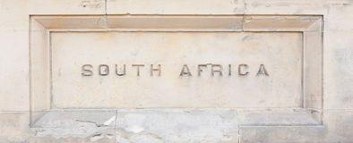 South Africa carved in granite Stock Photos