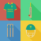 South Africa cricket icons Stock Images