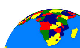 South Africa on Earth political map Stock Photo