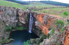 South Africa, East, Mpumalanga province, Mac Mac Falls, waterfall, pond. South Africa, 01/10/2009: view of the Mac Mac Falls, a 65 meters high waterfall in the stock photo