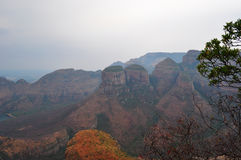 South Africa, East, Mpumalanga province, Blyde River Canyon, nature reserve, mountain, Three Rondavels stock photos