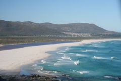 South Africa  beautifull beach 1. South Africa encompasses one of the most diverse landscapes on the entire continent, with habitats ranging from verdant forests Stock Photos