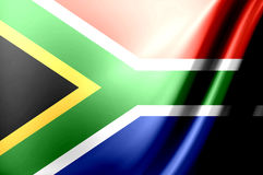 South Africa flag. Dynamic flag of south africa. Waves illustration royalty free illustration