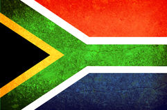 South Africa flag. Illustration of south africa flag. Vintage effect vector illustration