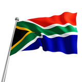 South africa flag Royalty Free Stock Photo