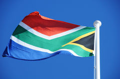 South Africa Flag. Flying in the Winds royalty free stock image