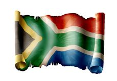 South africa flag. Beautiful and colorful illustration of south african flag Stock Images