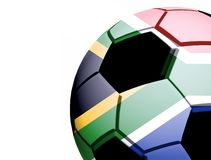 South Africa flag and ball Stock Photos