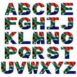 South Africa flag font Stock Image