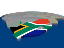 South Africa with flag Royalty Free Stock Images