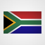 South Africa flag on a gray background. Vector illustration Stock Image