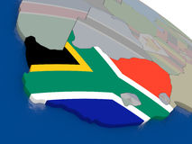 South Africa with flag Stock Image