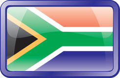 South Africa Flag Icon Stock Image