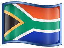 South Africa Flag icon Royalty Free Stock Photography