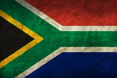 South Africa Flag on Paper. Flag on an old Paper Texture Royalty Free Stock Image