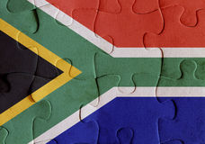 South Africa flag puzzle Stock Photography
