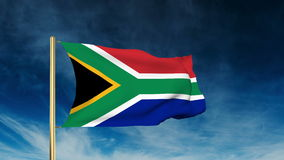 South Africa flag slider style. Waving in the wind