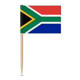 South Africa flag toothpick on white background Royalty Free Stock Photo