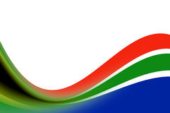 South Africa flag waves Royalty Free Stock Images