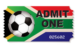 South africa football ticket Stock Images