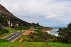 South Africa, Garden Route, landscape, freedom, Atlantic Ocean, nature, climate change. South Africa, 25/09/2009: landscape and Atlantic Ocean seen from the N2 royalty free stock photos
