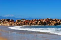 South Africa, Garden Route, Plettenberg Bay, beach. South Africa, 26/09/2009: the beach of Plettenberg Bay, called Plet or Plett, originally named Bahia Formosa royalty free stock images