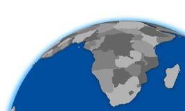 South Africa on globe political map Stock Photos