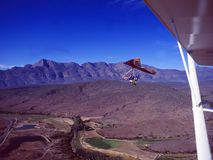 South Africa: Hangglider over the Swartberg-Mountains stock images