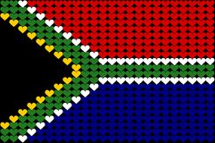 South Africa heart flag. An illustration of South African flag Stock Illustration