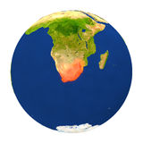 South Africa highlighted on Earth Royalty Free Stock Photo
