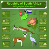 South Africa infographics, statistical data, sights vector illustration