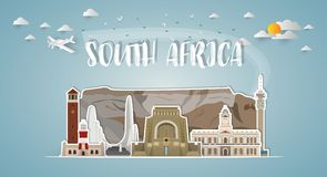Free South Africa Landmark Global Travel And Journey Paper Background Royalty Free Stock Image - 119667726