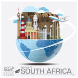 South Africa Landmark Global Travel And Journey Infographic Stock Photography