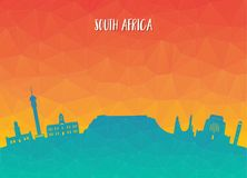 South africa Landmark Global Travel And Journey paper background. Vector Design Template.used for your advertisement, book, banner, template, travel business Royalty Free Stock Images